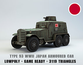 Low Poly Type 93 Kokusan Armored Car 3D model