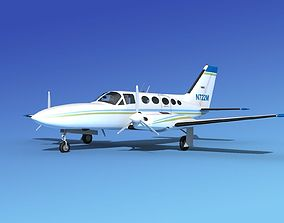 Cessna 414A Chancellor V07 3D model
