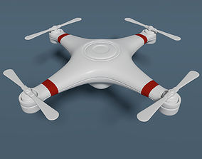 3D model Quadcopter Drone - Cartoon - Low Poly