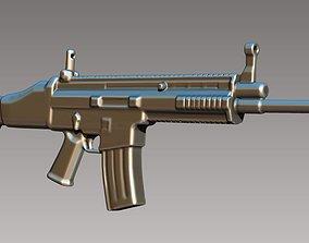figurines 3D model of gun
