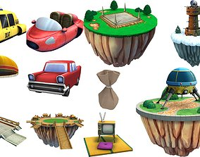 Lowpoly item Cartoon - Collection 3D asset