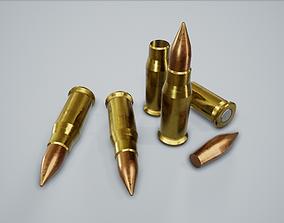 Cartridge Bullet PBR Game Ready 3D model game-ready