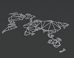 3D print model GEOMETRICAL WORLD MAP GEOMETRICAL WORLD MAP