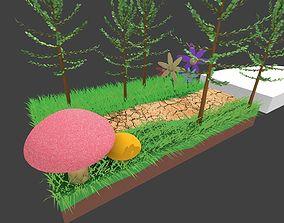 Few platformers for platformer game 3D model