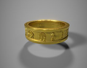 3D print model Egyptian Ring - Pharon