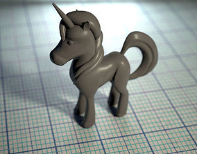 unicorn figure 3D print model