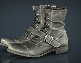 store 3D model game-ready Leather Boots