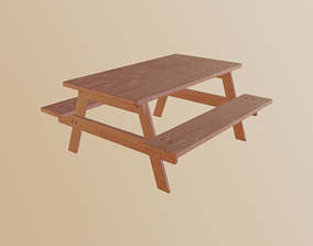 design 3D model realtime Picnic Table