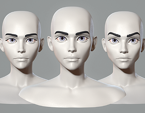 3D Stylized cartoon female characters base mesh