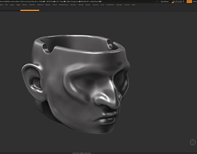 Ashtray human head 3d print model