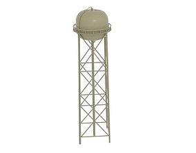 Water Tower Tan 3D asset