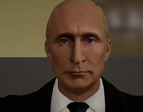 Vladimir Putin Full Body T-Pose 3D model