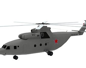 Lowpoly Mi-26 Helicopter 3D Model low-poly