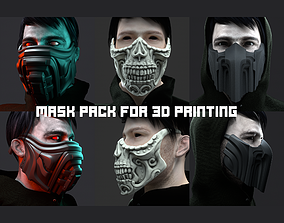 3 type of Mask cover masks 3D print model