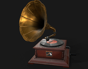 3D model game-ready PBR Gramophone