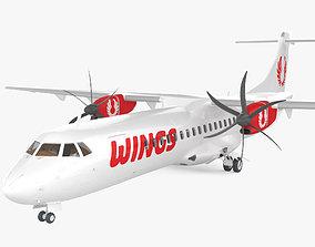 ATR 72 with Cockpit HQ interior 3D model
