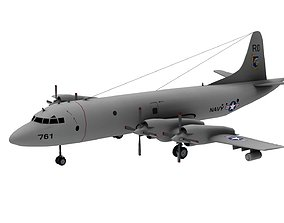 Lowpoly P-3C Orion 3D Model realtime