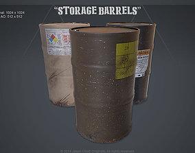 3D asset Barrels