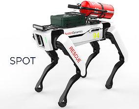 Boston Dynamics Spot Robot Rescue White 3D model
