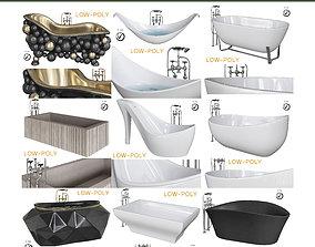 bath - Room 10 pieces 3D model