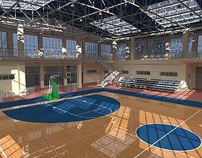 Basketball School Court 3D
