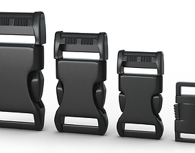 Set of 4 Buckles for Lanyards or 3D model