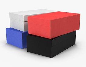 3D asset Colored Shoe Boxes Low-Poly