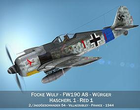 fw-190 3D model Focke Wulf - FW190 A8 - Red 1
