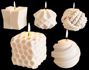 3D Set of decorative sculptural candles MAISONDEONGI