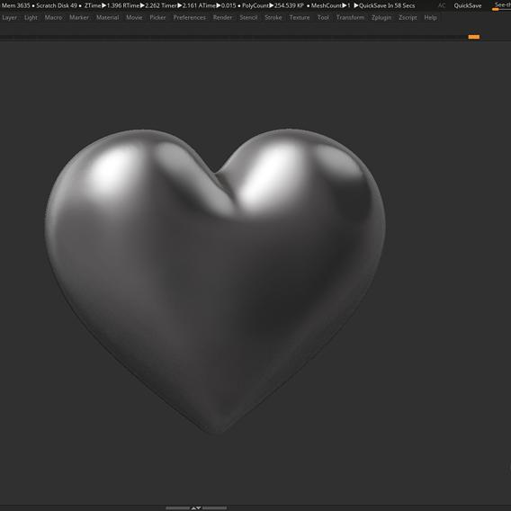 Heart Shape 3D print model