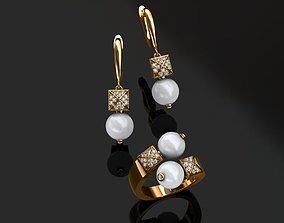 3D print model brindle Ring and Earrings