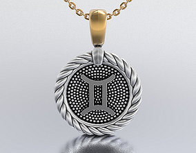 shining horoscope pendant 3D print model