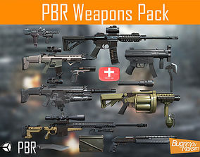 PBR Weapons pack 3D model