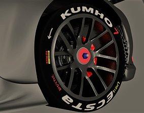 Racing wheels Kumho tires 3D model realtime
