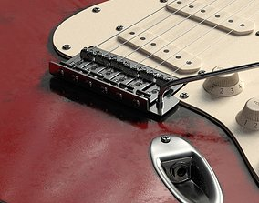Electric guitar with high quality textures Fender 3D model