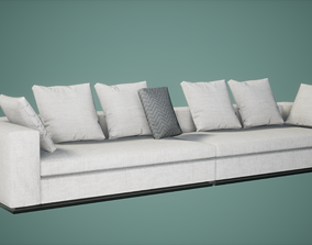 Sofa Set Low Poly Game Ready 3D model