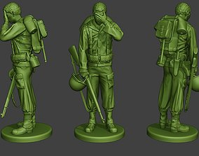3D print model American soldier ww2 Crying A11