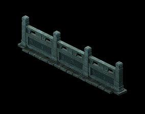 Game Model - Underground Palace Platform fence long