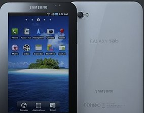 samsung p1000 galaxy tablet 3D model