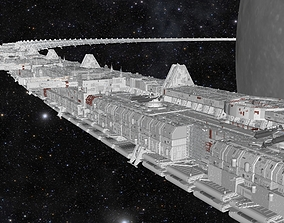 spaceship 3D starship troopers lunar base