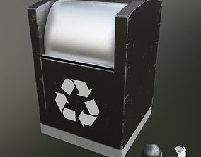 3D garbage container modern