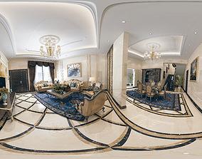 3D model Royal classic Interior Livingroom