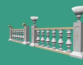 Architectural Balustrade - Palace Decor Baroque-1 3D asset