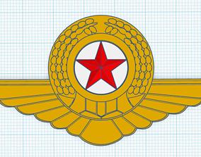 North Korean Air Force Cap Badge 3D printable model
