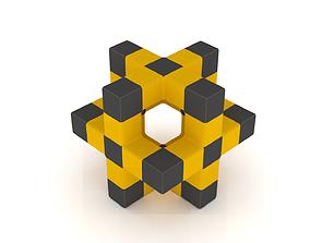mathematical 3D printable model x-cube