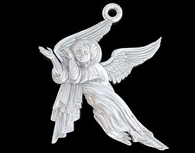 Baby angel pendant jewelry 3D print model