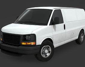 GMC Savana Van 3D model realtime