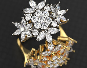 3D print model Marquise Ring 01