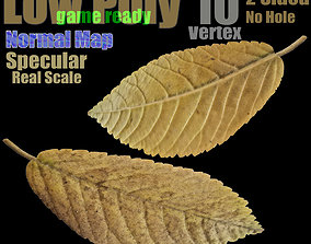 low-poly Fallen Leaf - Game-Ready 3D Model