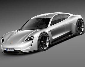 HQ LowPoly Porsche Mission E Concept 2015 3D asset